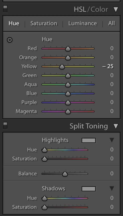 Hue-Saturation-Split-Toning-Pannels